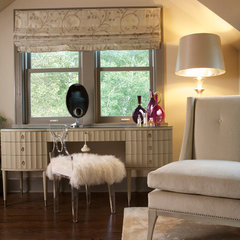 eclectic bedroom by Susan Brunstrum of SWEET PEAS DESIGN INC