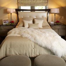 Traditional Bedroom by Susan Brunstrum of SWEET PEAS DESIGN INC