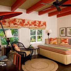 Eclectic Bedroom by Fine Design Interiors, Inc