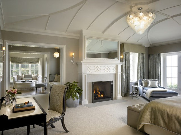 Transitional Bedroom by Morgante Wilson Architects