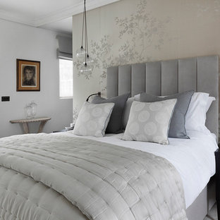 Grey and Silver Bedroom Ideas and Photos | Houzz