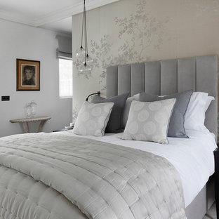 Grey White Bedroom Ideas and Photos | Houzz