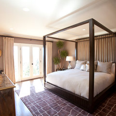 contemporary bedroom by Laura U, Inc.