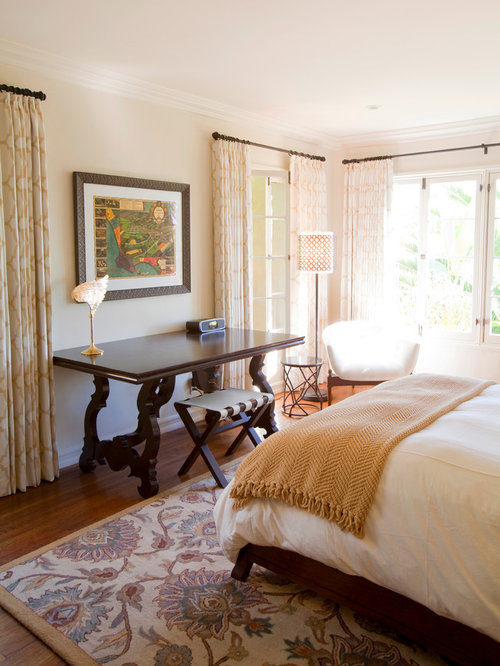 bedroom drapes. Transitional bedroom photo in Los Angeles with beige walls Bedroom Drapes  Houzz