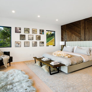 Bedroom   large contemporary guest bedroom idea in Los Angeles. 75 Beautiful Contemporary Guest Bedroom Pictures   Ideas   Houzz