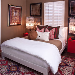eclectic bedroom by Elizabeth Gordon