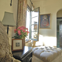 mediterranean bedroom by Brenda Olde
