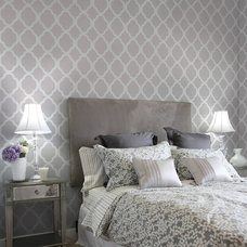 Contemporary Bedroom by Janna Makaeva/Cutting Edge Stencils