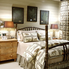 Rustic Bedroom by Jean Macrea Interiors, Inc.