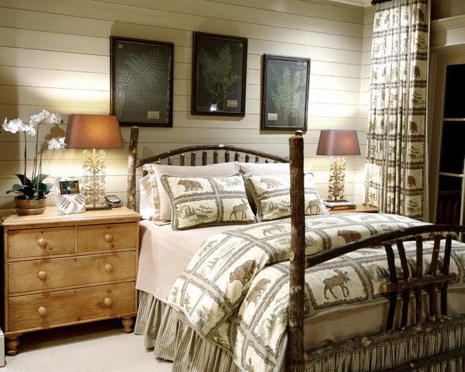 Rustic Bedroom by Jean Macrea Interiors, Inc.