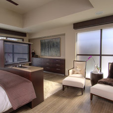 Contemporary Bedroom by London Audio Ltd