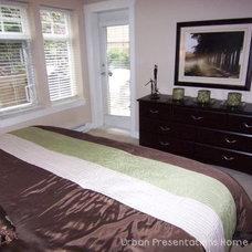 Contemporary Bedroom by urban presentations