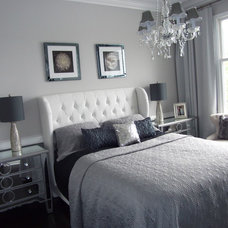 Modern Bedroom Home Staging New jersey, Home Stager, Grey, Silver, Real Estate Home Staging