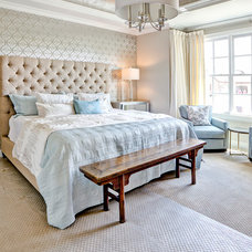 Transitional Bedroom by Lady of the HOUSE interior design