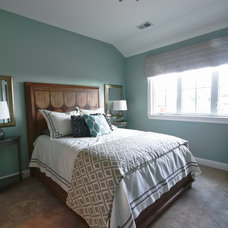 Transitional Bedroom by Set The Stage