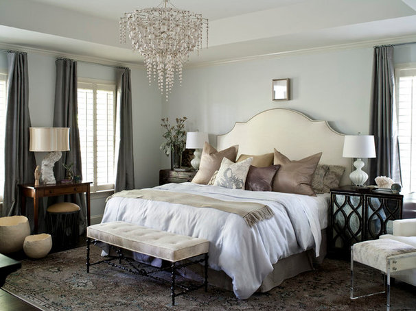 Transitional Bedroom by Heather Garrett Design
