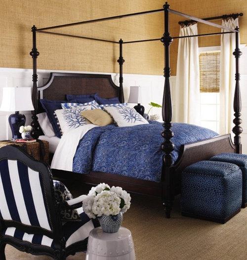 navy blue bedroom home design ideas renovations photos