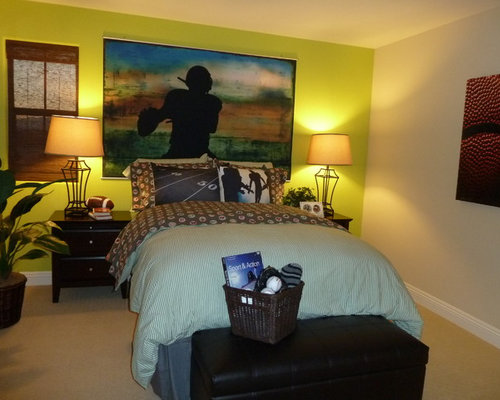 Traditional Tennis Ball Bedroom Design Ideas Renovations Photos