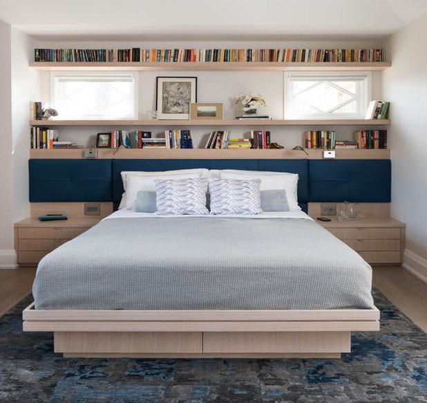 8 testiere del letto che sono anche librerie belle e - Testiera letto originale ...