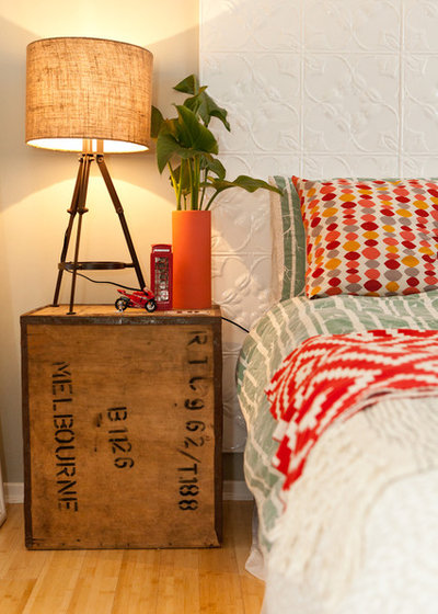 Eclectic Bedroom by Twinkle and Whistle