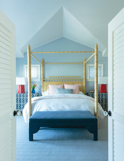 Beach Style Bedroom by Alison Kandler Interior Design