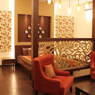 バンガロールのコンテンポラリースタイルのおしゃれな寝室のインテリア