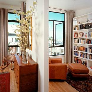 Minimalist light wood floor bedroom photo in San Francisco
