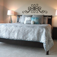 Transitional Bedroom by Showcase Staging Houston