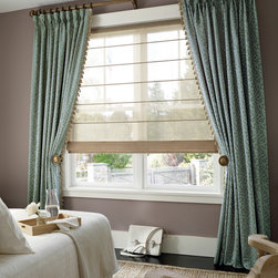 Hunter Douglas Full Product Line - Hunter Douglas Design Studio. Roman Shades, Curtains, Drapes, Side Panels, Decorative Valances and Cornices - Today's Window Fashions Andover