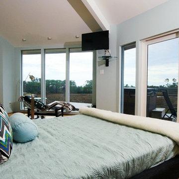 Hurricane-Proof Home on Pilings (Stilt House) - Master Bedroom