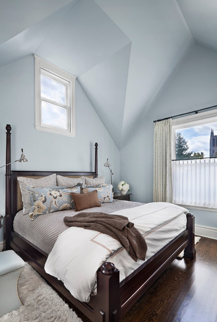 Transitional Bedroom by Tom Stringer Design Partners