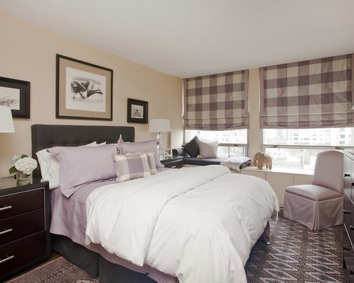 Lavender And Gray Bedroom | Houzz