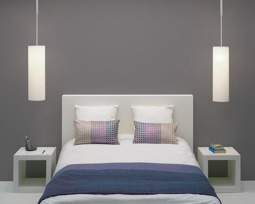 Camere da letto grigie e bianche design casa creativa e for Camere da letto bianche
