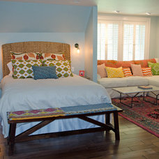 Eclectic Bedroom by Riley Art and Interiors