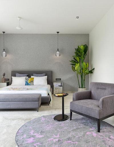 Contemporary Bedroom by S A K Designs