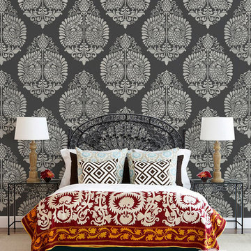 Indian & Paisley Wall Stencil Projects