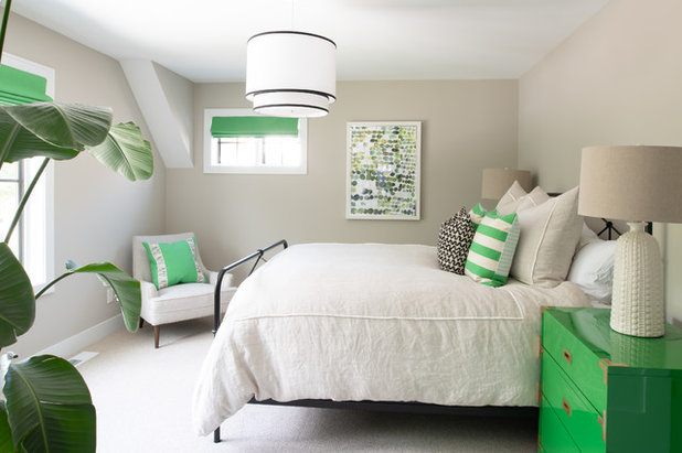 Transitional Bedroom by Studio M Interiors