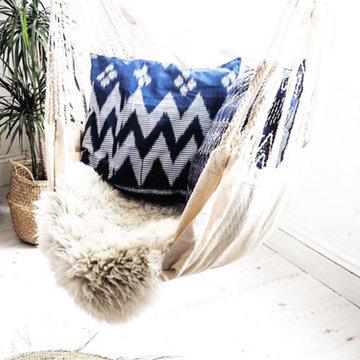 Indigo Feel with BRUNNA.co Indigo Ikat Pillows