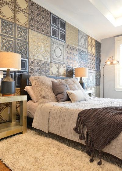 エクレクティック 寝室 by Contour Interior Design, Inc.