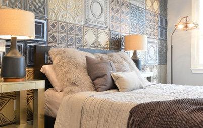 Stickybeak of the Week: Tin Tiles Transform a Bachelor's Bedroom