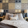 Room Tour: Tin Tiles Create a Striking Accent in This Bedroom