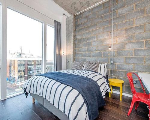 Industrial bedroom design ideas renovations photos for Industrial bedroom design