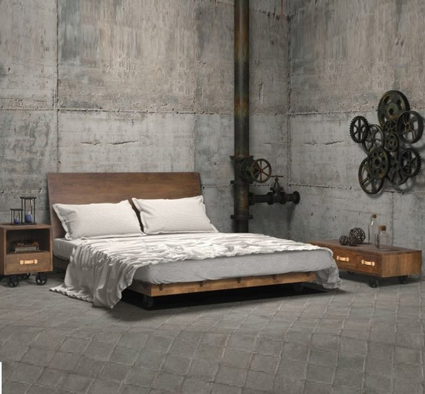 12 id es d co pour une chambre industrielle. Black Bedroom Furniture Sets. Home Design Ideas
