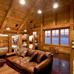 Mountain style bedroom photo in New York