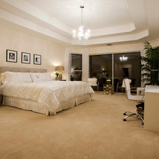 Midcentury Bedroom by Inspired Interiors by Wendi, IIDA