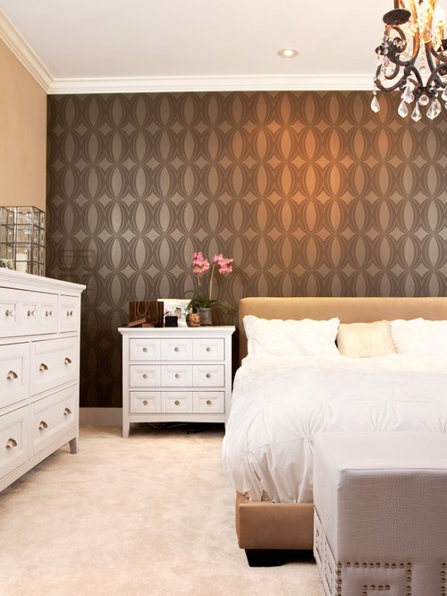 Online Bedroom Design sweet Example Of A Mid Sized Transitional Master Carpeted And Beige Floor Bedroom Design In Los
