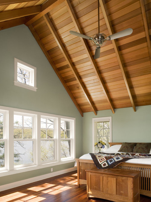 Vaulted Ceilings Cabin Houzz