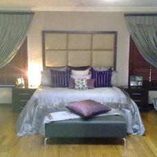 Contemporary Bedroom by Karen Schaefer Louw