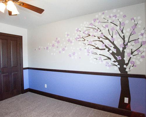chambre asiatique avec un mur violet photos et id es d co de chambres. Black Bedroom Furniture Sets. Home Design Ideas