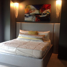 Contemporary Bedroom by MarianneB Paintings